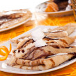 Stock Photo: Pancakes decorated with orange peel