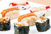 Close-up of sushi rolls — Stock Photo