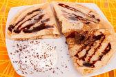 Three delicious pancakes — Stock Photo