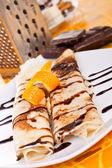 Delicious pancakes — Stock Photo