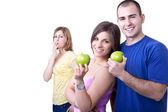 Casal e o estilo de vida saudável — Foto Stock