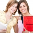 Two smiilng female student — Stock Photo