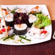 Sushi on table — Stock Photo