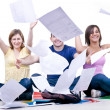 Happy students end of school - Stock Photo