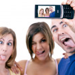 Photo of making silly faces — Stock Photo