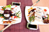 Sushi served for two person — Stockfoto