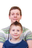 Smiling father and son — Stock Photo