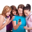 Stock Photo: Teenage girls messaging