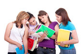 Group of teenagers studying — Stock Photo