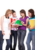 Group of young teenagers studying — Stock Photo