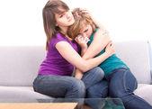Tonåringar och kärlek problem — Stockfoto