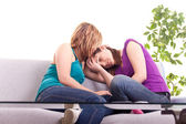 Girl comforting her friend — Stock Photo