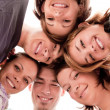 Teenagers in circle - Stock Photo