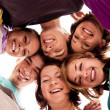 Group of  teenagers in circle — Foto Stock