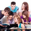 Group of students studying — Foto de stock #3691363