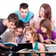 图库照片: Group of students studying