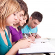Teenagers together learning — Stock Photo