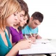 Teenagers together learning — Stock Photo #3691897