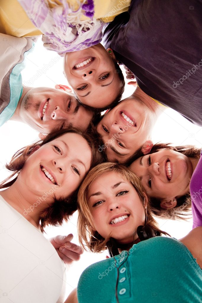 Friendship, Youth And People - Group Of Smiling Teenagers In ...