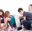 Young teenagers playing twister — Stock Photo #3720858