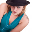 Sexy girl posing with hat — Stock Photo #3721109