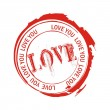 Love stamps — Stock Vector
