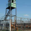 Stock Photo: Observation tower at prison