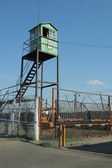 Observation tower at the prison — Stock Photo