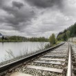 railroad train track — Stock Photo