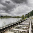 Stock Photo: Railroad Train Track