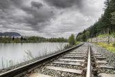 Railroad Train Track — Stock Photo