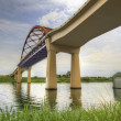 Under the Sauvie Island Bridge - Stock Photo