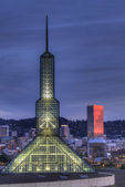 Portland Oregon Downtown Skyline at Blue Hour — Stock Photo