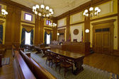 Historic Building Courtroom — Stock Photo