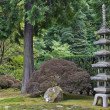 Japanese Stone Pagoda 2 - Stock Photo