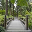 Wood Bridge at Japanese Garden — Stock Photo #3510049