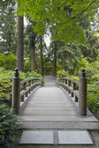 Wood Bridge at Japanese Garden — Stock Photo