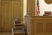Courtroom Witness Stand Chair — Stock Photo