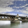 Stock Photo: Burnside Bridge Portland Oregon