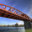 Broadway Bridge Over Willamette River — Stock Photo