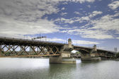 Ponte di burnside portland oregon — Foto Stock