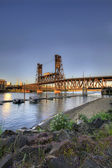 Steel Bridge Portland Oregon 4 — Foto de Stock
