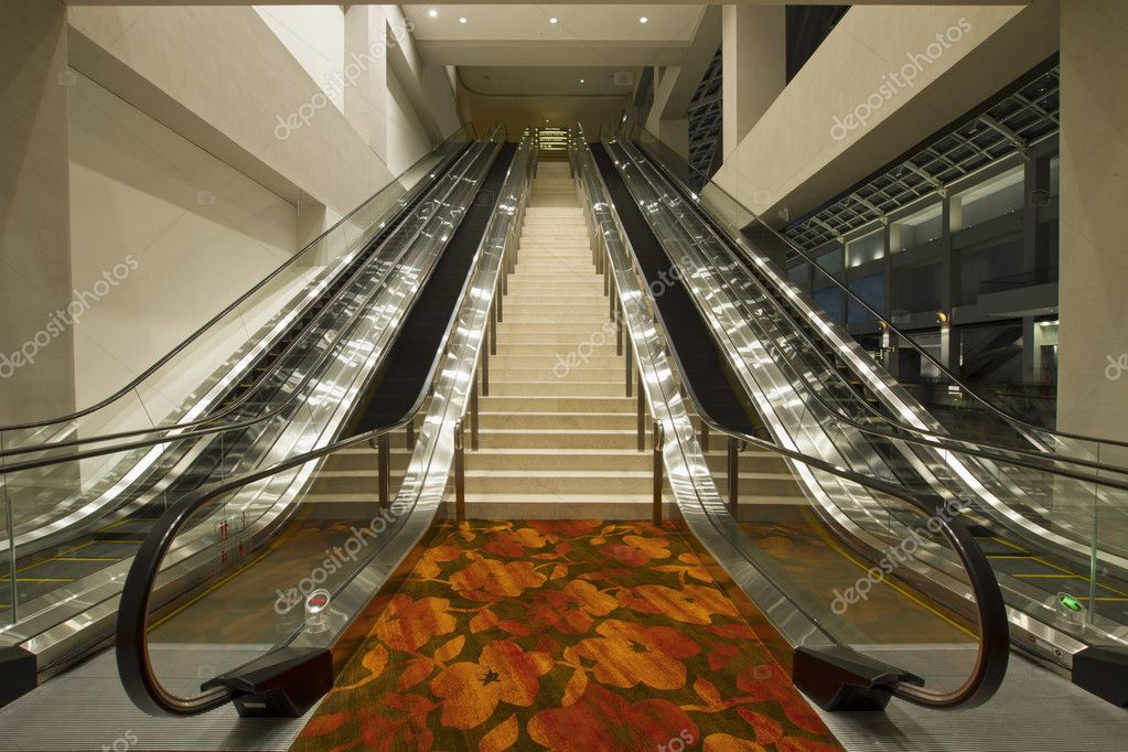 Convention Center Stairs and Escalators to Business Meeting Rooms  Stock Photo #3820533