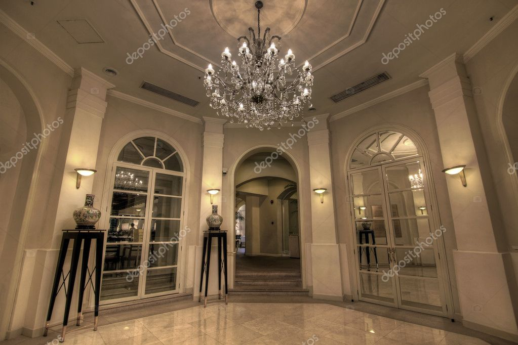 The Grand Foyer Will Transport : Grand lobby foyer — stock photo davidgn