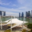 Singapore City Skyline from the Esplanade — Stock Photo