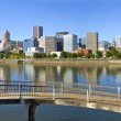 Stock Photo: Portland Oregon Downtown Skyline Panorama 2
