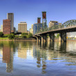 Portland oregon skyline van downtown panorama — Stockfoto