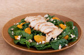 Healthy chicken salad — Stock Photo