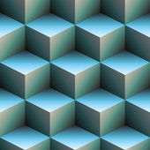 Cubes 3d en bleu — Photo