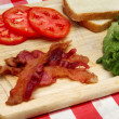 Blt ingredients on a cutting board — Stock Photo #3580001